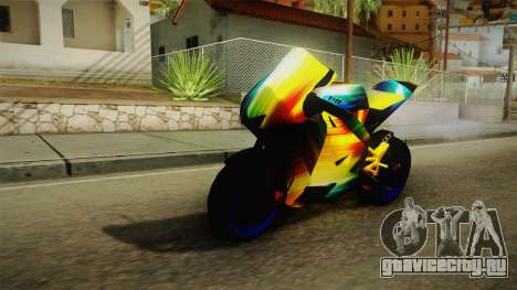 Rainbow Motorcycle для GTA San Andreas вид сзади слева