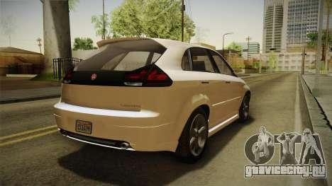 GTA 5 Emperor Habanero IVF для GTA San Andreas вид сзади слева