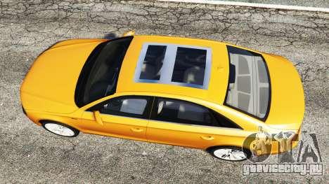 Audi A8 L (D4) 2013 [replace] для GTA 5 вид сзади