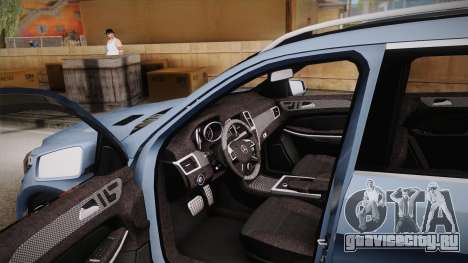 Mercedes-Benz GL63 Brabus для GTA San Andreas вид изнутри