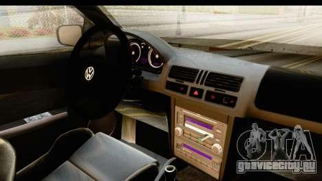 Volkswagen Bora Pickup для GTA San Andreas вид изнутри