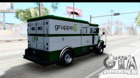 GTA 5 Stockade v1 IVF для GTA San Andreas вид сзади слева