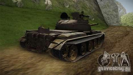T-62 Desert Camo v1 для GTA San Andreas вид слева