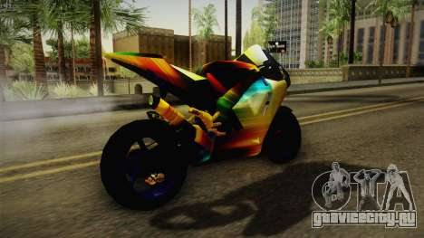 Rainbow Motorcycle для GTA San Andreas вид справа