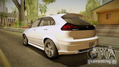 GTA 5 Emperor Habanero IVF для GTA San Andreas вид слева