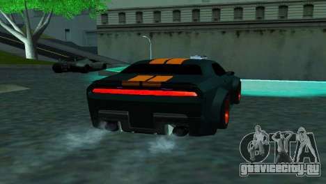 DODGE CHALLENGER SRT8 POWER для GTA San Andreas вид сзади слева
