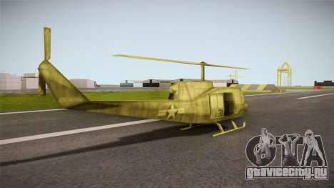 Bell UH-1H from Army Men: Serges Heroes 2 DC для GTA San Andreas вид слева