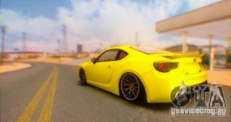 Toyota GT86 2015 Stance для GTA San Andreas вид слева