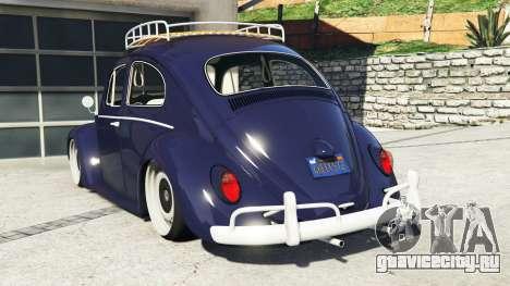 Volkswagen Fusca 1968 v0.9 [add-on] для GTA 5 вид сзади слева