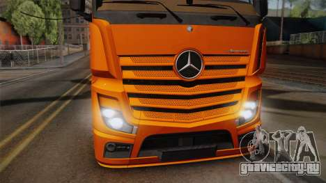 Mercedes-Benz Actros Mp4 4x2 v2.0 Steamspace для GTA San Andreas вид сзади слева