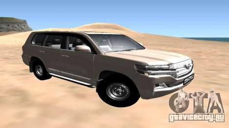 Toyota Land Cruiser 200 2016 для GTA San Andreas вид сзади слева