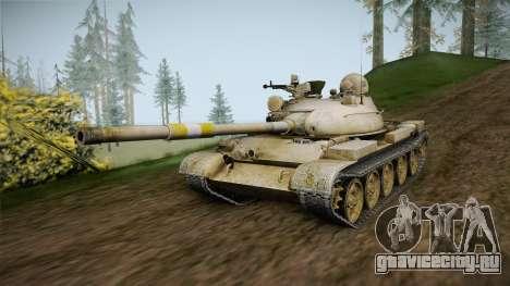 T-62 Desert Camo v1 для GTA San Andreas вид справа