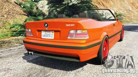 BMW 328i (E36) M-Sport v1.1 [replace] для GTA 5 вид сзади слева