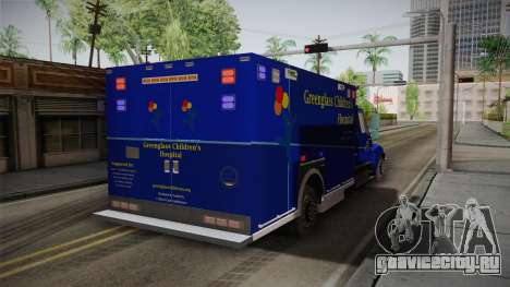 International Terrastar Ambulance 2014 для GTA San Andreas вид сзади слева