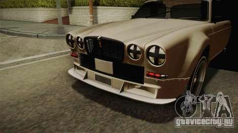 Jaguar Broadspeed XJC для GTA San Andreas вид сзади
