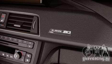 BMW M3 F30 30 Jahre для GTA San Andreas вид сзади