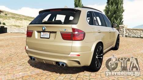 BMW X5 M (E70) 2013 v1.2 [add-on] для GTA 5 вид сзади слева