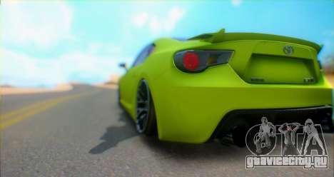 Toyota GT86 2015 Stance для GTA San Andreas вид справа