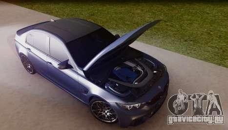 BMW M3 F30 30 Jahre для GTA San Andreas вид сбоку
