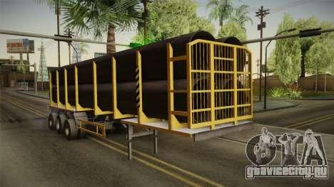 МАЗ 99864 Trailer v3 для GTA San Andreas вид сзади слева
