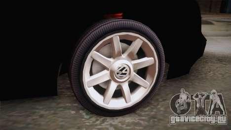 Volkswagen Golf Mk3 Blyatmobile для GTA San Andreas вид сзади слева
