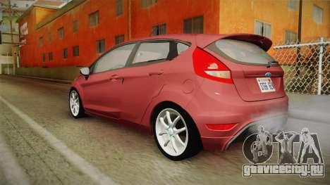 Ford Fiesta 2009 для GTA San Andreas вид слева