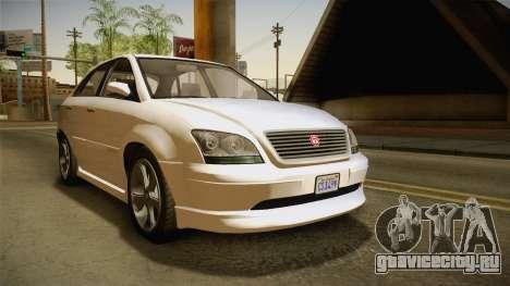 GTA 5 Emperor Habanero IVF для GTA San Andreas вид справа