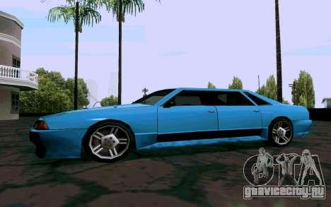 Elegy Sedan для GTA San Andreas вид сзади слева