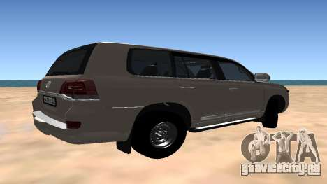 Toyota Land Cruiser 200 2016 для GTA San Andreas вид справа