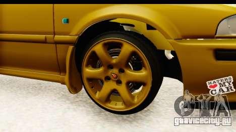 Rover 220 Gold Edition для GTA San Andreas вид сзади