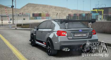 Subaru WRX STI LP400R 2016 для GTA San Andreas вид изнутри