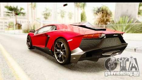Lamborghini Aventador LP720-4 2013 для GTA San Andreas вид слева