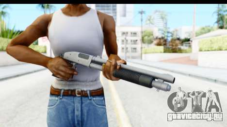 Tactical Mossberg 590A1 Chrome v1 для GTA San Andreas третий скриншот