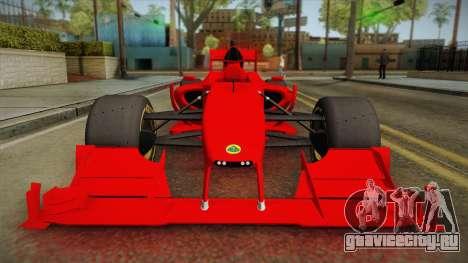 Lotus F1 T125 для GTA San Andreas вид справа
