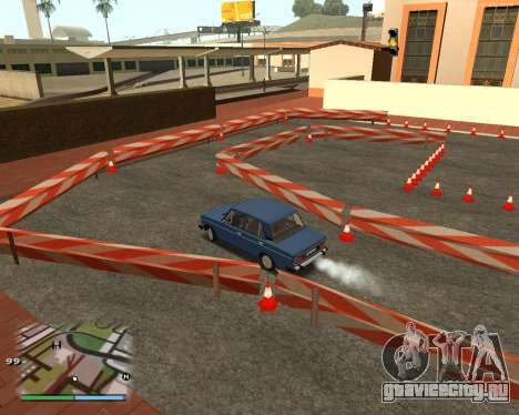Автодром, как в автошколе для GTA San Andreas пятый скриншот