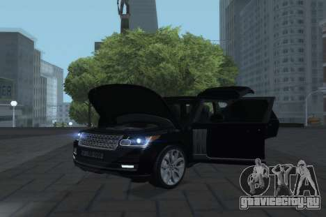 Land Rover Range Rover Vogue для GTA San Andreas вид справа