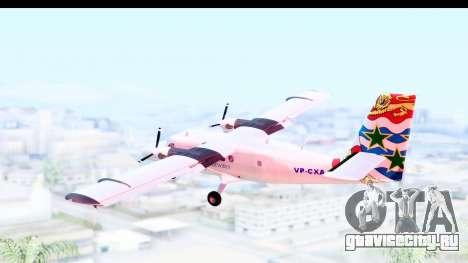 DHC-6-400 Cayman Airways для GTA San Andreas вид справа