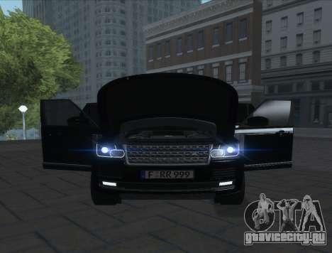 Land Rover Range Rover Vogue для GTA San Andreas вид сзади слева