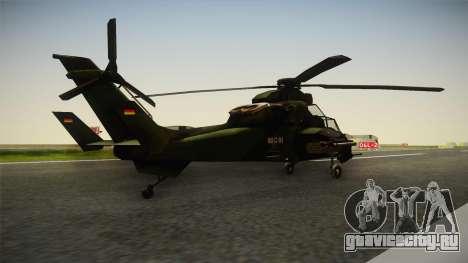 Eurocopter Tiger Extra Skin для GTA San Andreas вид сзади слева