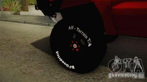 Toyota Hilux 2010 Venezolana de Off Road для GTA San Andreas вид сзади