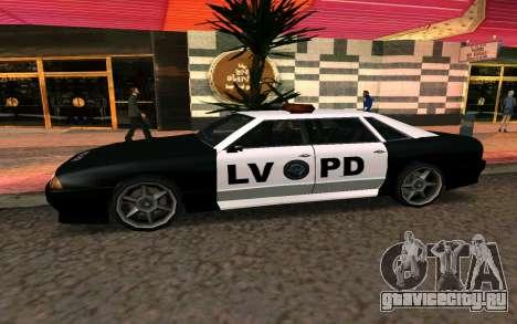 Elegy Police для GTA San Andreas вид слева