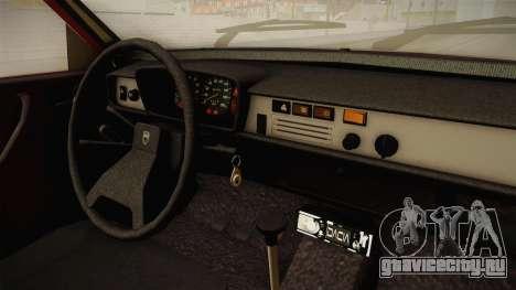 Dacia 1310 TX 1986 v2 для GTA San Andreas вид изнутри