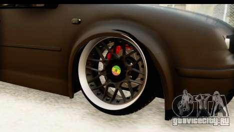 Volkswagen Bora Pickup для GTA San Andreas вид сзади
