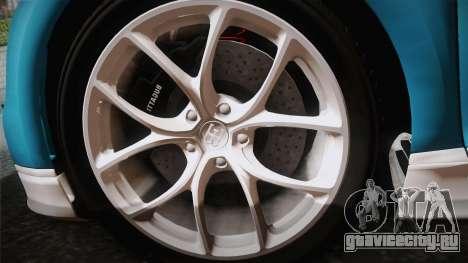 Bugatti Chiron 2017 v2.0 Italian Plate для GTA San Andreas вид справа