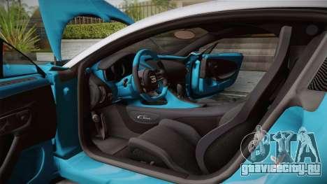 Bugatti Chiron 2017 v2.0 Italian Plate для GTA San Andreas вид изнутри