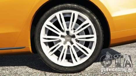 Audi A8 L (D4) 2013 [replace] для GTA 5 вид сзади справа