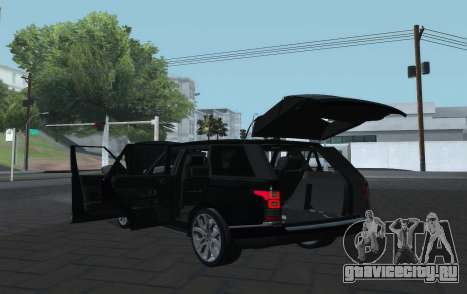 Land Rover Range Rover Vogue для GTA San Andreas вид сзади