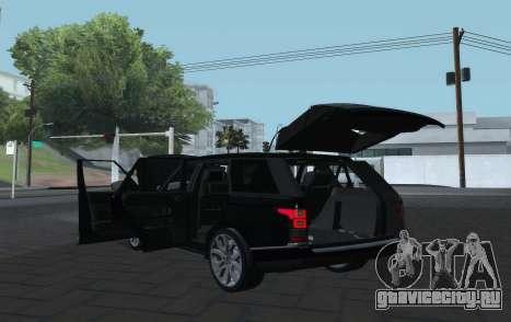Land Rover Range Rover Vogue для GTA San Andreas вид сзади