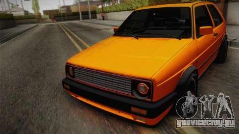 Volkswagen Golf Mk2 GTI .ILchE STYLE. для GTA San Andreas вид изнутри