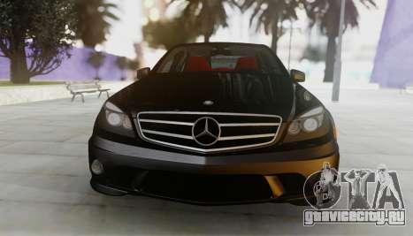 Mercedes-Benz C63 AMG w204 для GTA San Andreas вид слева